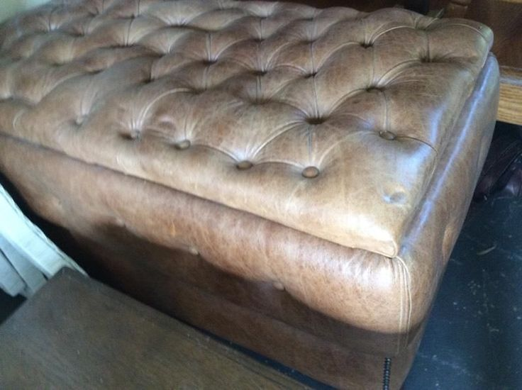 Vintage leather ottoman and useful as because it opens but nice extra seat too! All leather and deep buttoned chesterfield type! 9 - 4 every day except Mondays. HEY JUDES BIGGEST FURNITURE BARN IN KZN, has two shops, 1 Fraser Road, Assagay and the other situated on our sugar cane farm 20 mins from our  Hillcrest Hey JUDES, head on up the N3 towards PMB, take Camperdown Offramp and go left at the 3km Tjunction, then 4km to next sign and go right 4km. PMB side take exit 61 Eston Umbumbulu…
