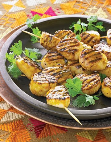 scallopsGrill Recipes, Summer Food, Food Dinner, Healthy Grilled, Grilled Food, Country Living, Scallops Recipe, Grilled Scallops, Grilled Recipe