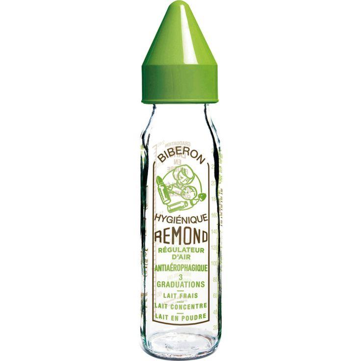 Biberon verre 240 ml vintage dbb tétine silicone vert au meilleur prix chez allobébé