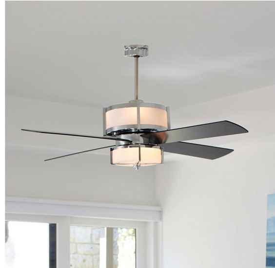 Id Love This In The Family Room Low Watt Uppers For That Romantic Look But Great Light From Lowers Find Pin And More On Ceiling Fan