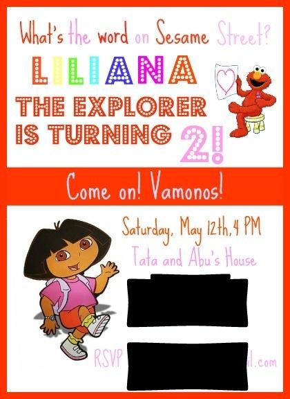 Elmo & Dora party