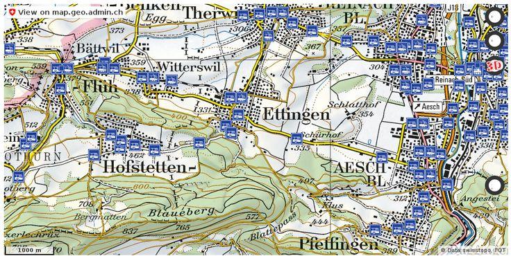 Ettingen BL Wanderwege Karte trail http://ift.tt/2iGgY6K #maps #schweiz