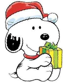 Christmas Baby Snoopy Cartoon Clipart Image - I-Love-Cartoons.com