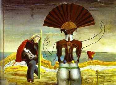 Woman, Old Man and Flower by Max Ernst: