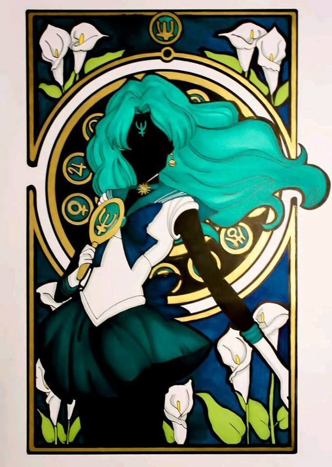 Sailor Neptune fan art by Crystal