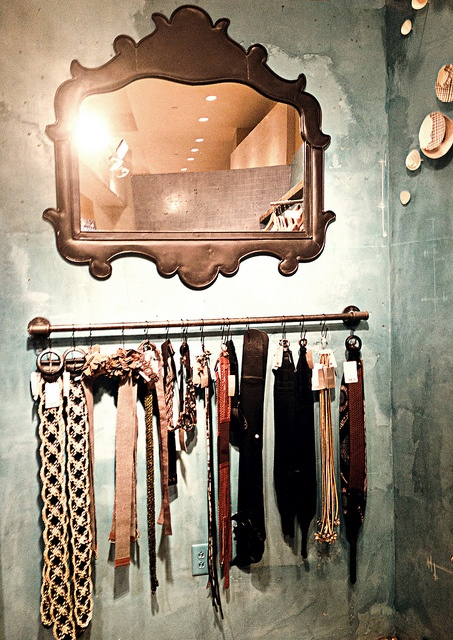 Belt display from Anthropologie...could be used in my own closet!
