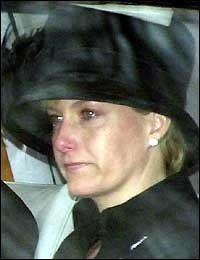 HRH The Countess of Wessex at the funeral of Queen Elizabeth The Queen Mother, 2002