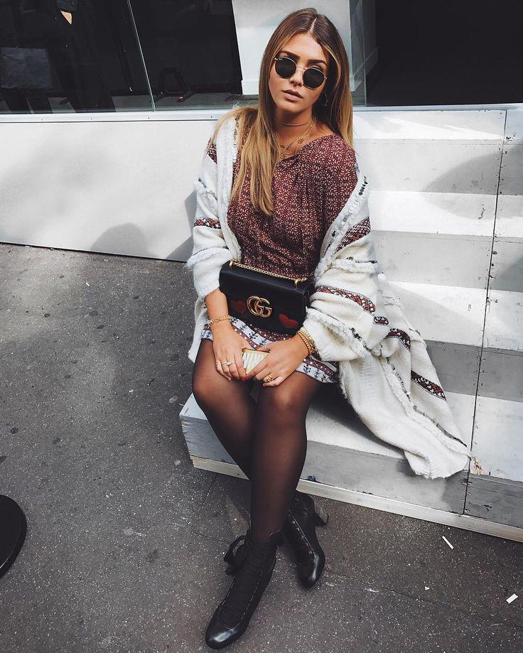 Farina Opoku, the blogeuse of Nova Lana Love wearing our Essaouira Cardigan, during the Fashion Week in Paris ! #mesdemoiselles #FW16 #cardigan #embroderies #coldday #winter #mesdemoisellesparis