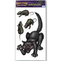 Stickers Peel N Place Black Cat $12.95 BE01902