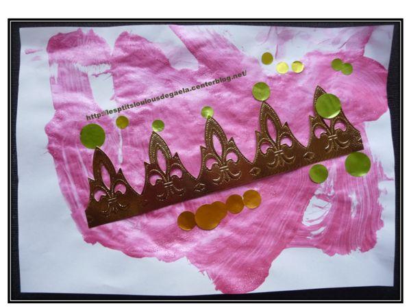 Bricolage enfants pour l'épiphanie. Tableau couronne