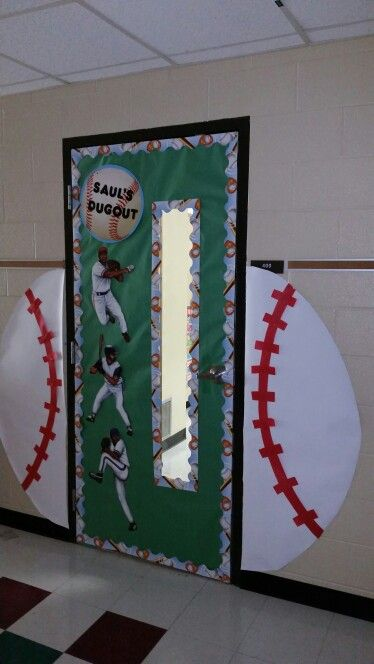 Baseball Hallway Door Each Hallway In Our School Is A