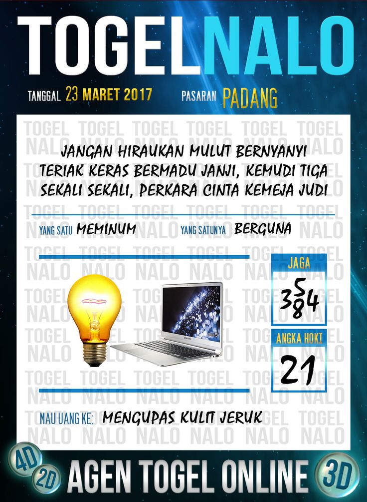 Kode Angka 4D Togel Wap Online TogelNalo Padang 23 Maret 2017