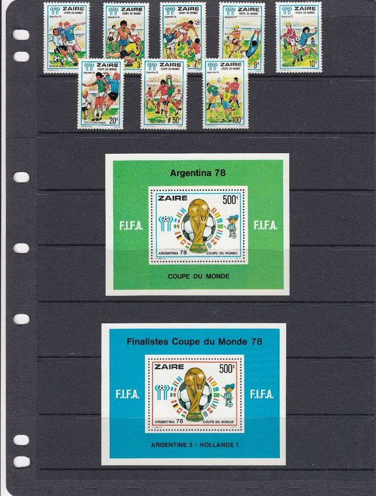 a132 - ZAIRE - SG915-MS923 MNH 1978 WORLD CUP FOOTBALL CHAMPIONSHIP  | eBay