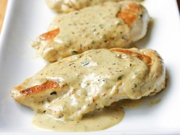 Κρασάτο κοτόπουλο με σάλτσα μουστάρδας