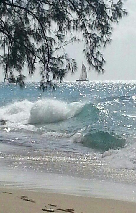 Beach Living / Barbados, sparkle on the ocean www.hotmix106.com, radio that's smokin', not broken.