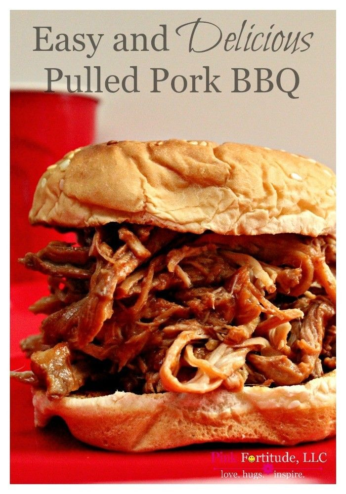 This is the best pulled pork BBQ recipe this side of Memphis.  The recipe has been around for years, and it's one of my family's favorites.  It's perfect to feed a crowd, to cook for a BBQ and the leftovers are even better!