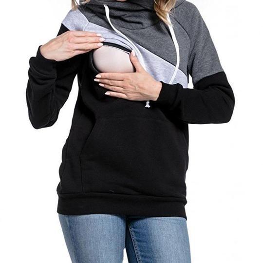 a4392447aac Casual Hoodies Sweatsgurts Women Maternity Nursing Pullover Breastfeed –  geekbuyig