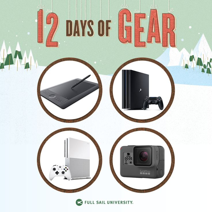 I entered to win a PS4, Xbox One, GoPro and more in Full Sail's #12DaysofGear Giveaway. Enter here: