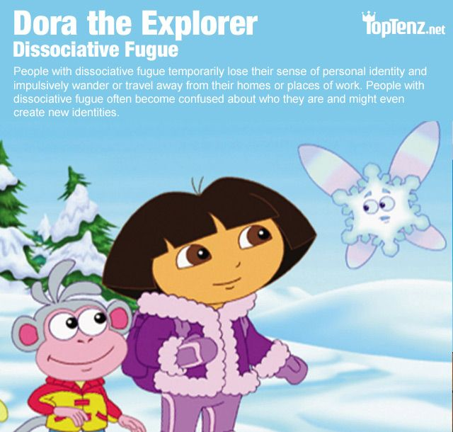 Cartoon Characters Mental Disorders : Still the best medicine dora explorer psychiatric