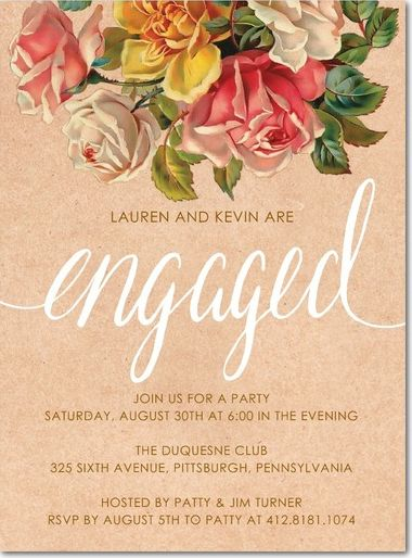 21 best You Are Cordially Invited images on Pinterest - how to word engagement party invitations