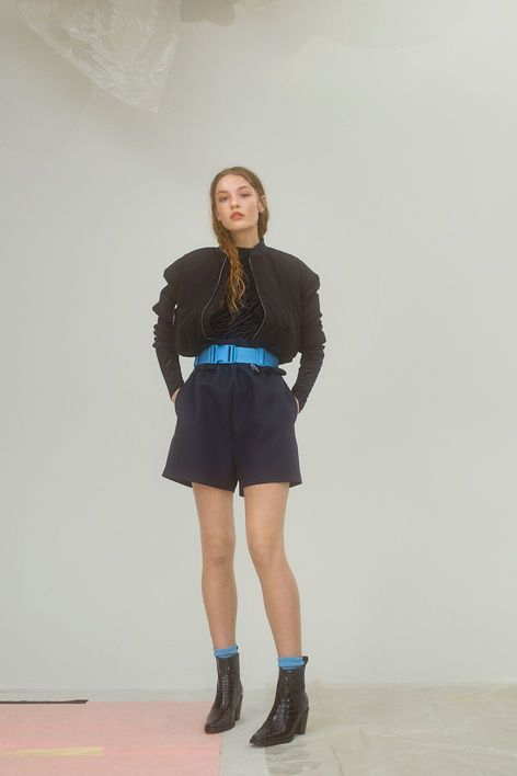 Ganni New Arrivals   Lawrence Shorts, Total Eclipse