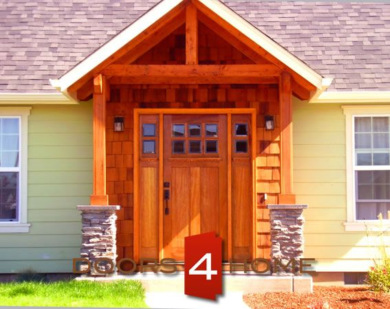 AAW Doors Inc. Brazilian Mahogany Craftsman Style Entry Door and Two Sidelites with Dual Clear Beveled Glass at & 20 best AAW doors inc entry doors images on Pinterest | Entry ... Pezcame.Com