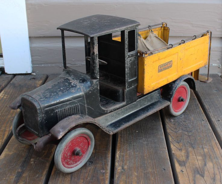 Antique Vintage Toy Pressed Steel Buddy L Ice Delivery Truck | eBay