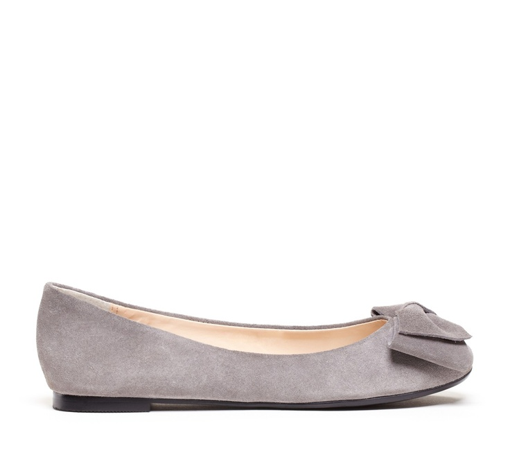 cute grey suede flats with a bow!