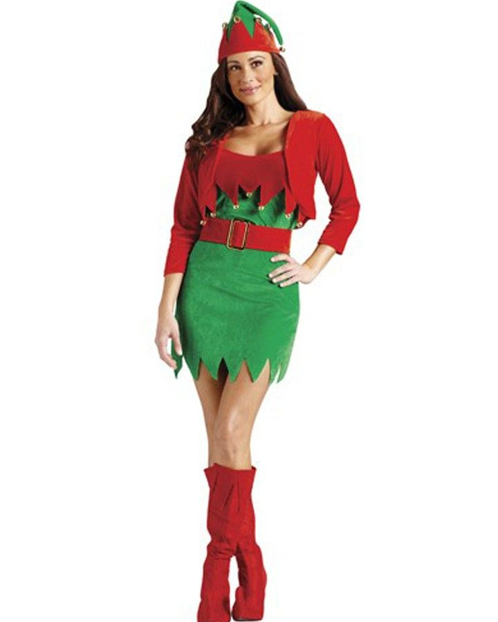 Christmas Party Costume Ideas For Adults Part - 33: Elfalicious Womens Costume #christmas