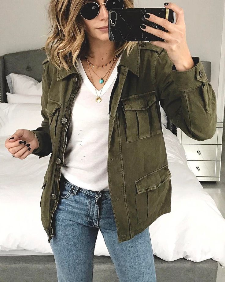@emmahill looking FAB in our utility jacket!