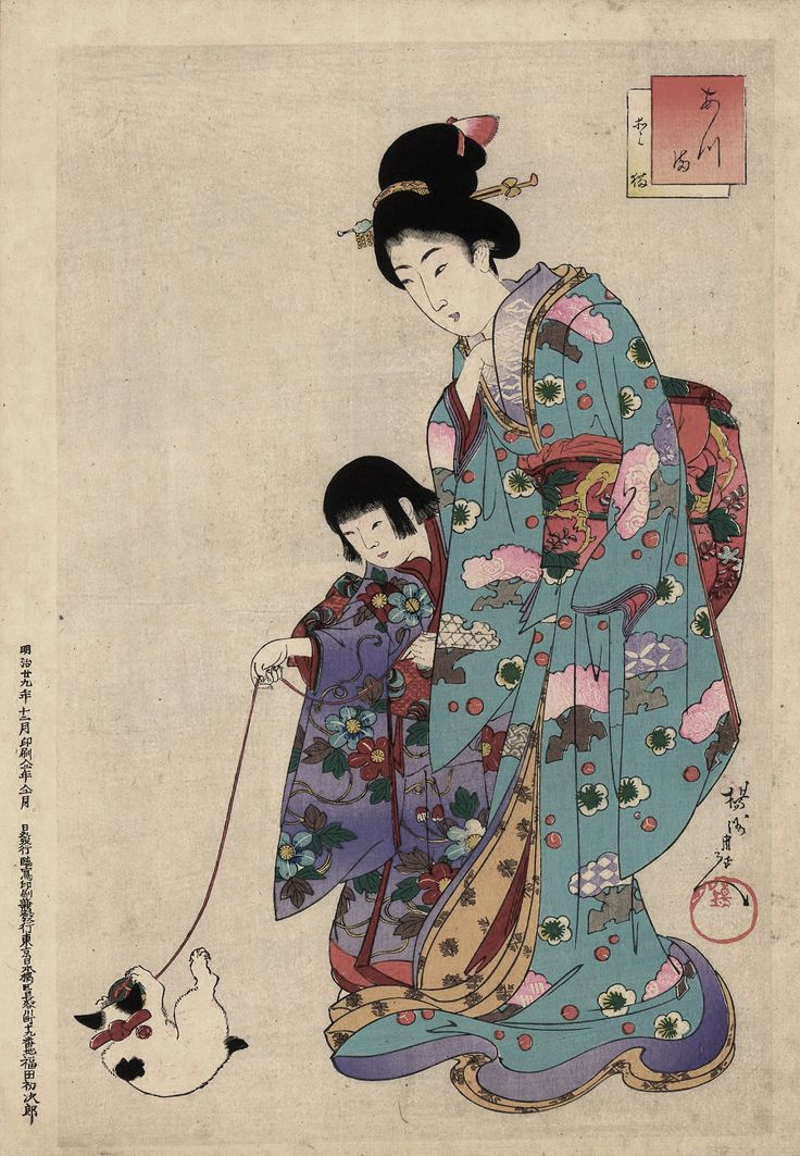 The picture of the Edo period called ukiyoe