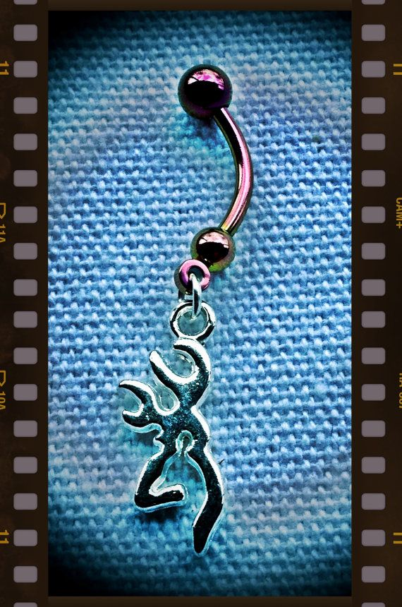 Browning Buckmark Belly Ring on Etsy, $12.00