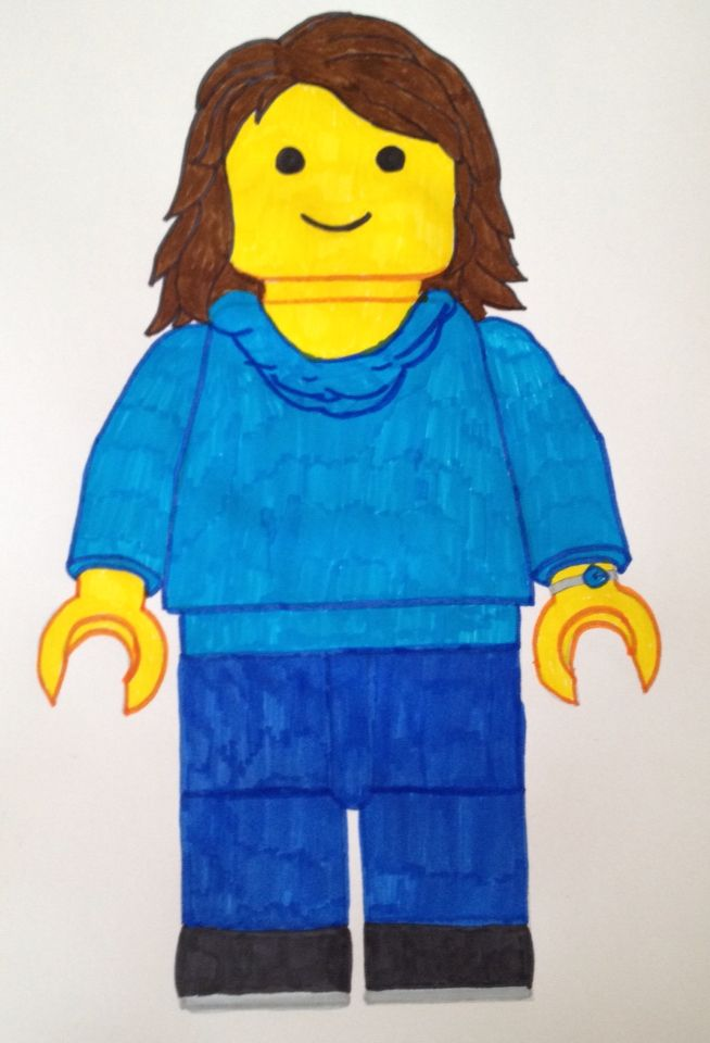 how to draw a lego self portrait