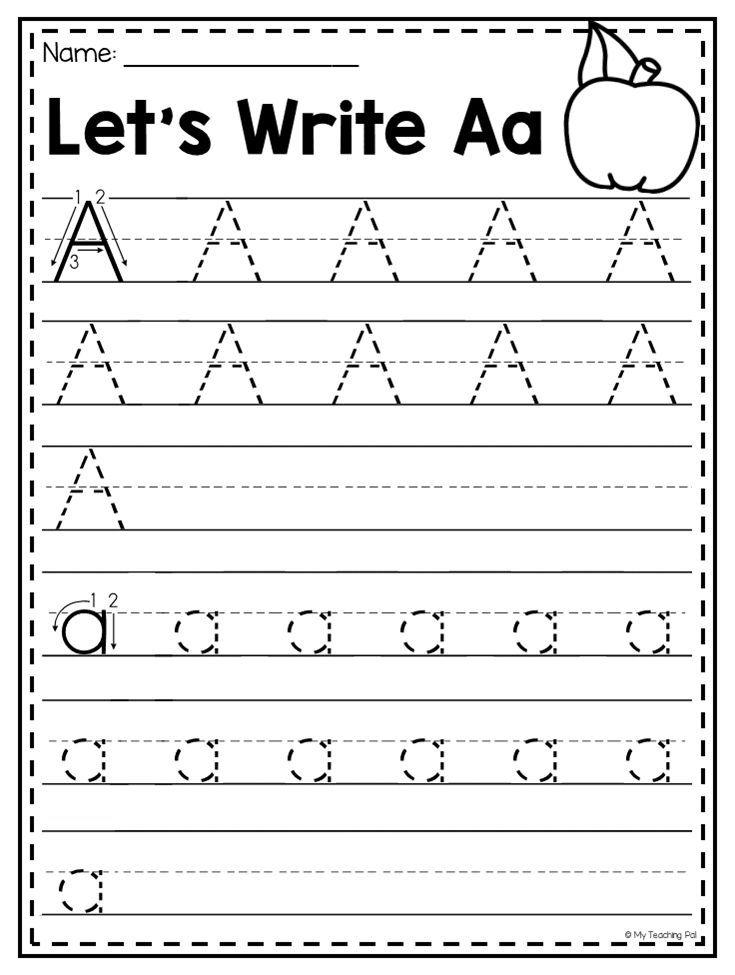 Mega Alphabet Worksheet Pack Pre K Kindergarten Distance