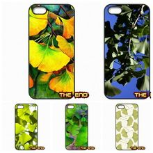 Voor Apple iPhone 4 4 S 5 5C SE 6 6 S 7 Plus 4.7 5.5 iPod Touch 4 5 6 Ginkgo biloba ook gespeld gingko Mobiele Telefoon Case Cover(China (Mainland))