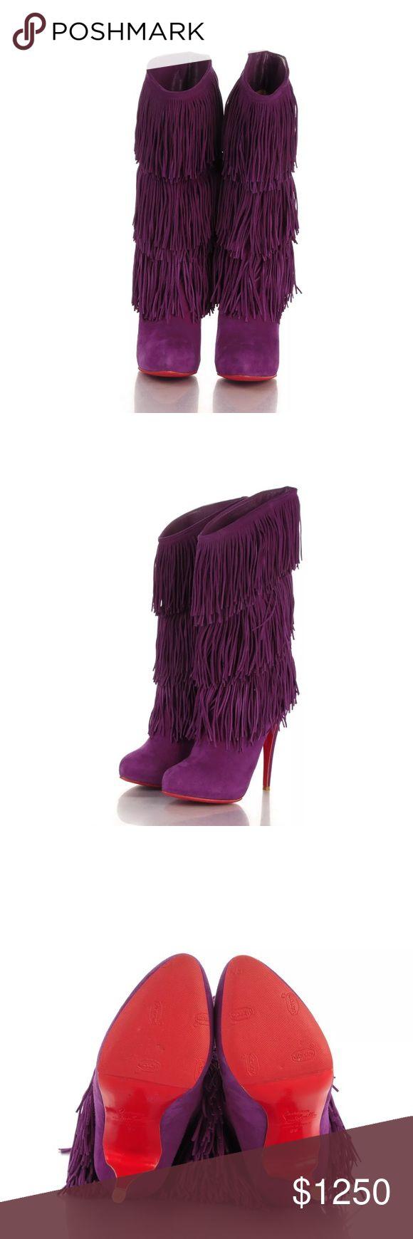 Christian Louboutin Forever Tina Fringe Boots