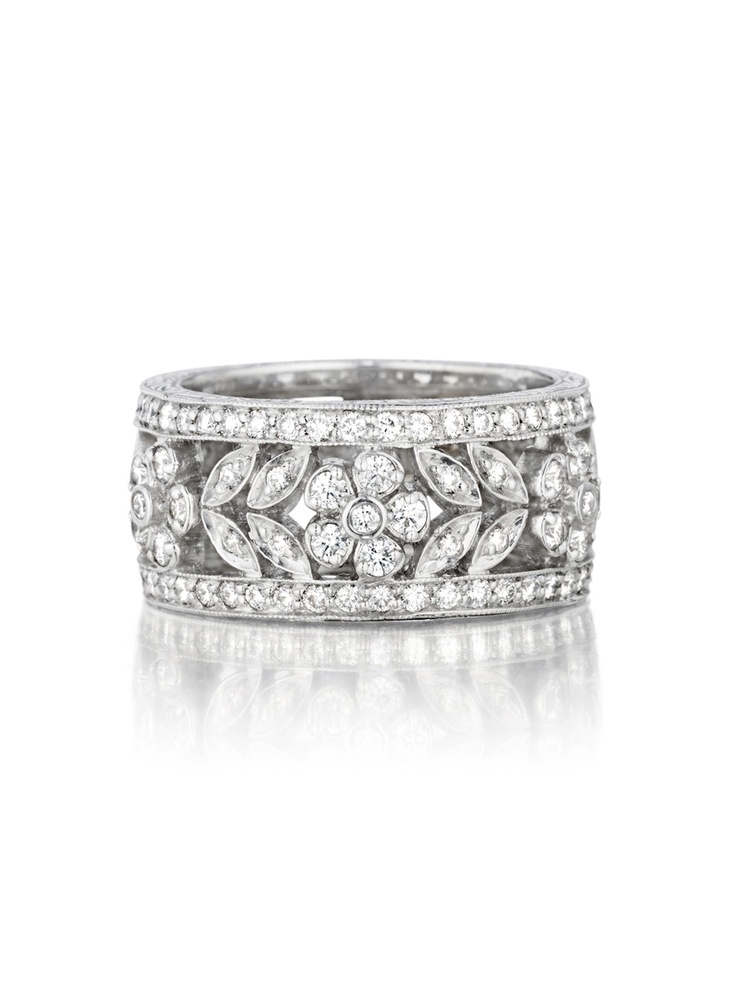 Penny Preville 18k White Gold Garland Diamond Band at London Jewelers!