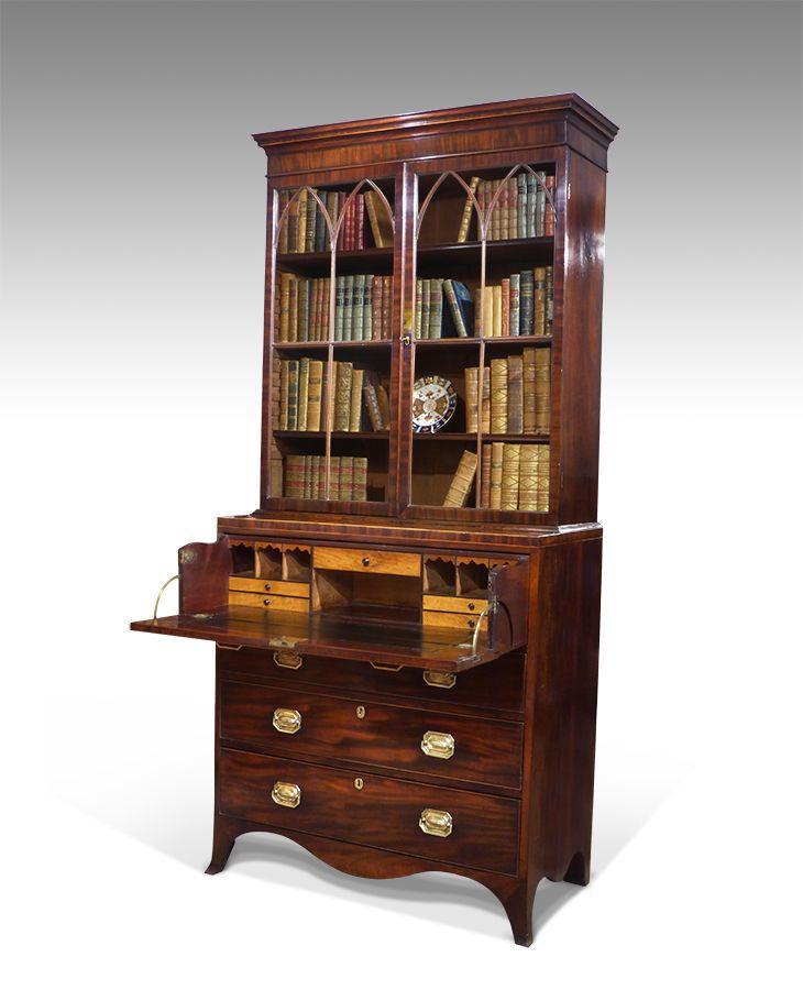 Awe Inspiring Regency Secretaire Bookcase Antique Forniture In 2019 Download Free Architecture Designs Scobabritishbridgeorg