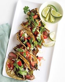 Martha-Seared Steak Fajitas--For a fast, low-calorie dinner, try this Tex-Mex classic. It