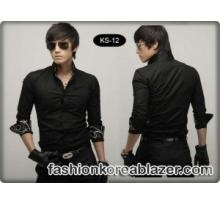 Kemeja Hitam Korea Style IDR : Rp 245.000