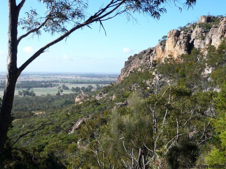 Rock climbing at Mt Arapiles - the world's best climbing destination, in Australia.