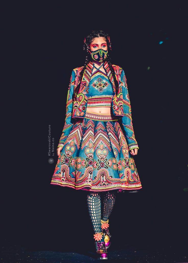 Indian by Manish Arora #SwarovskiCouture #SwarovskiCrystals Swarovski India…