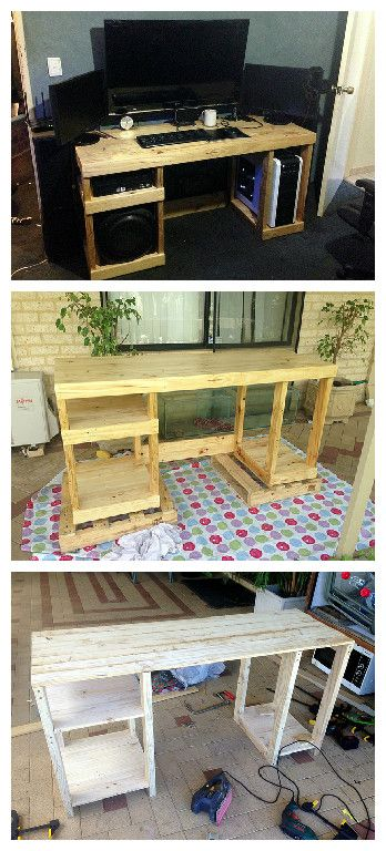 Pallet wood computer desk pallet ideas offices for How do you spell pallets