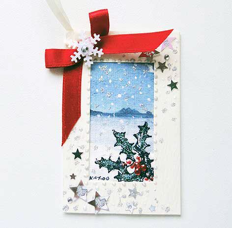 Winter Scene  Gift Tag 02
