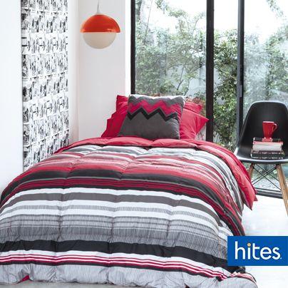 Mezclar el rojo con tonos grises, te dará un toque sofisticado y moderno.