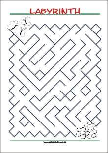 Findest Du Den Weg Durch Das Labyrinth   Kostenlose Labyrinth Spiele Zum  Ausdrucken