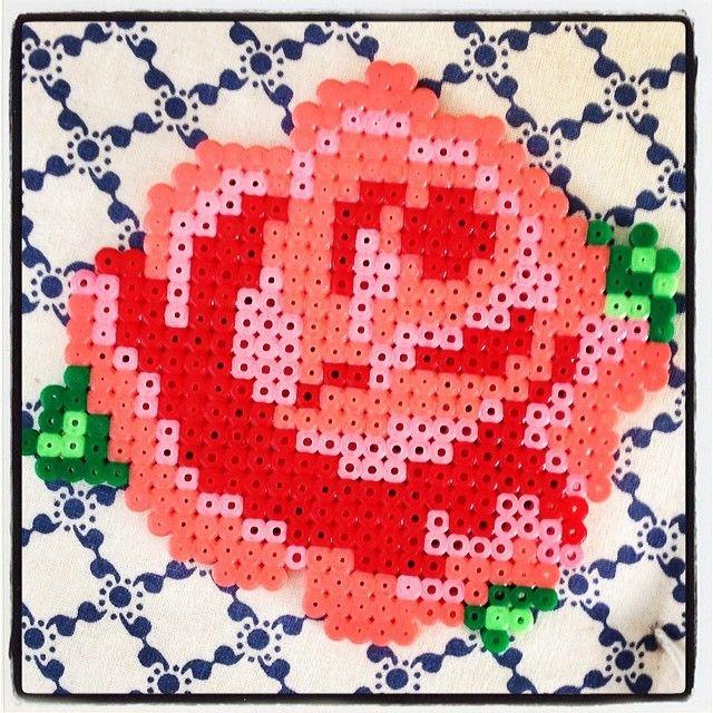 Rose hama beads by tinksitiina