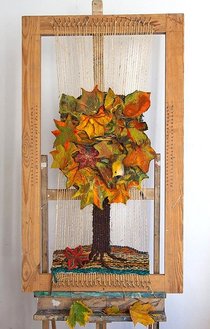 woven tapestry Autumn tree by GalaFilc