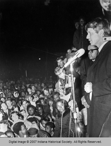 Robert F. Kennedy Announcing Martin Luther King's Death  Indianapolis, Indiana  (Indianapolis Recorder)