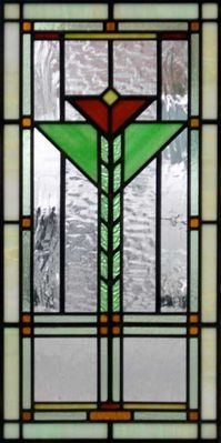 Arts and crafts style stained glass leaded window by www.phoenixstudio.com